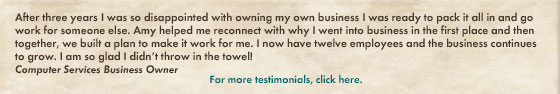 business coaching testimonial amy ruppert